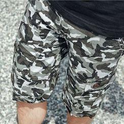 SeventyAge - Pockets Camo Shorts