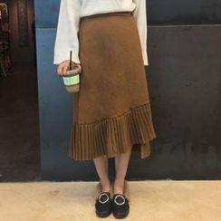 Cloud Nine - Pleated Midi A-line Skirt