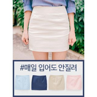 icecream12 - Mini Pencil Skirt
