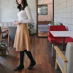 Hello sweety - Wool Blend A-Line Skirt