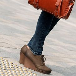 SO Central - Lace-Up Wedges