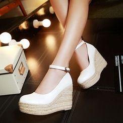 錦洋鞋業 - 踝帶船跟鞋