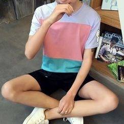 JVR - Short-Sleeve Color-Block T-Shirt