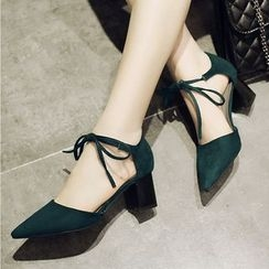 Gizmal Boots - Bow Pointed Pumps