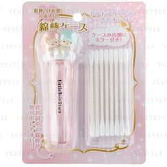 Sanrio - Cotton Swab Case With Mirror (Little Twin Stars)