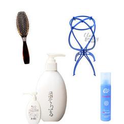 Clair Beauty - Wigs Aftercare Set: Hair Brush + Shampoo + Hair Treatment + Hair Stand