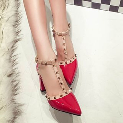 MANMANNI - Studded Chunky-Heel Sandals