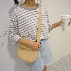 MATO - Stripe Elbow-Sleeve T-shirt