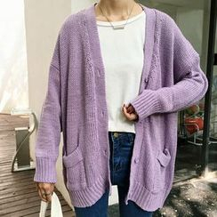 Rollis - Plain Long Cardigan