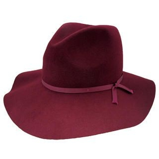 GRACE - Bow Accent Wide-Brim Fedora