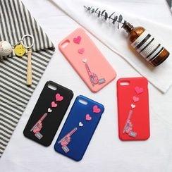 Hachi - Gun & Heart Phone Case - Apple iPhone 6 / 6 Plus / 7 / 7 Plus