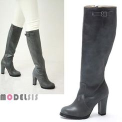 MODELSIS - Genuine Leather Long Boots