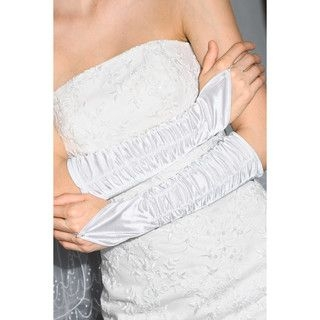 59 Seconds - Shirred Long Fingerless Bridal Gloves
