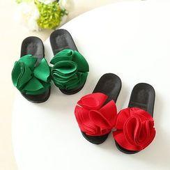 Luco - Kids Flower Accent Slide Sandals
