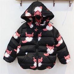 Rakkaus - Kids Printed Hooded Padded Zip Jacket