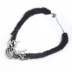 MIPENNA - Mysterious Black Snow Deer Necklace