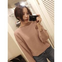 maybe-baby - Boat-Neck Wool Blend Knit Top