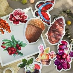 Homey House - Pack of 30: Floral Print Postcards