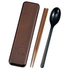 Hakoya - Hakoya Fukumaru Spoon & Chopsticks Set Tochigime