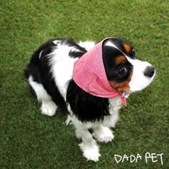 LIFE STORY - Pet Dog Check Stripe Bandana Scarf