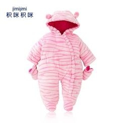 JIMIJIMI - Baby Striped Hooded One-Piece