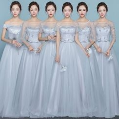 MSSBridal - Short/ Elbow Sleeve Bridesmaid Dress