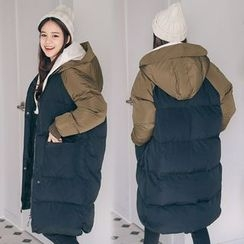 PPGIRL - Color-Block Padded Coat