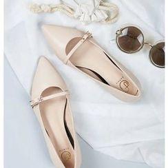 BAYO - 純色尖頭平跟鞋