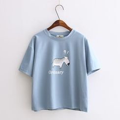Softies - Short-Sleeve Embroidered Top