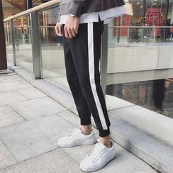 Soulcity - Contrast Trim Sweatpants
