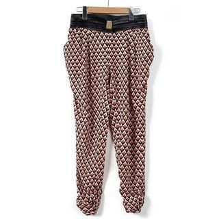 9mg - Diamond-Pattern Cropped Harem Pants