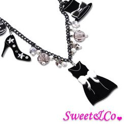 Sweet & Co. - LittleBlackDress x Sweet&Co. 黑白吊飾頸鏈