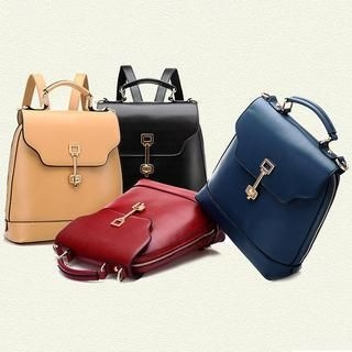BeiBaoBao - Faux-Leather Backpack