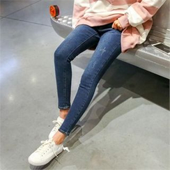 PINKSISLY - Washed Skinny Jeans