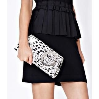 59 Seconds - Mixed Animal Print Clutch