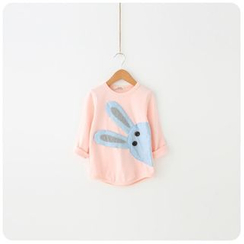 Rakkaus - Kids Long-Sleeve Applique Printed Top