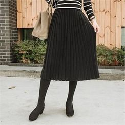 JOAMOM - Accordion-Pleat Knit Skirt