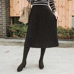 JOAMOM - Accordion-Pleat Knit Skirt