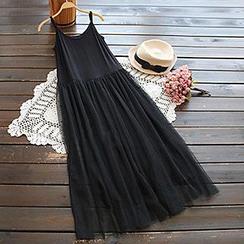 YOYO - 網面吊帶裙