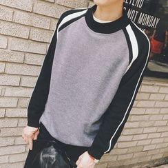 Streetstar - Striped Raglan Sweatshirt
