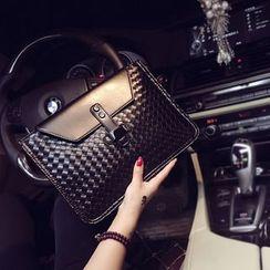 BagBuzz - Woven Faux Leather Handbag
