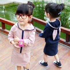 CUBS - 童装套装: 兔耳朵连帽外套 + 裙子