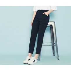 HOTPING - Pocket-Side Tapered Pants