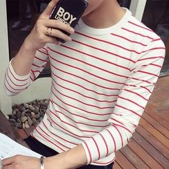 Besto - Striped Long-Sleeve T-Shirt