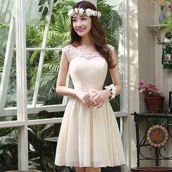 MSSBridal - 蕾絲拼接禮服裙 (六款)