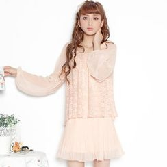 Angel Love - Mock Two-Piece Chiffon Dress