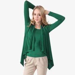 O.SA - Cardigan Overlay Knit Top