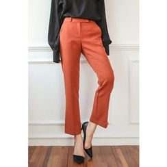 PPGIRL - Flat-Front Boot-Cut Pants