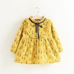 Cuckoo - 兒童樹木印花長袖連衣裙