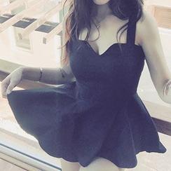 Honeydew - Strappy V-neck Dress